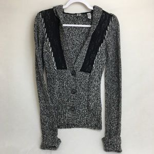 BKE   Speckled Button Down Sweater